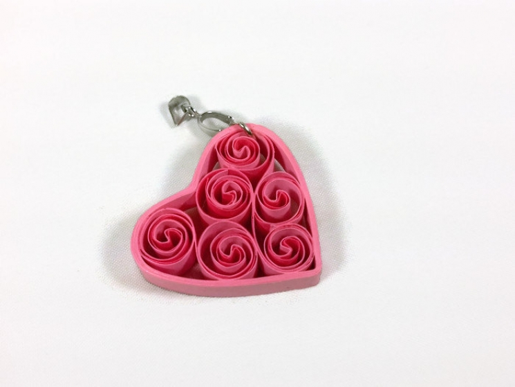paper jewelry, unique gift for her, paper anniversary gift, pink filigree