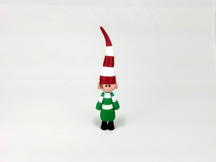 paper quilled Christmas elf ornament, Christmas decoration, custom ornaments