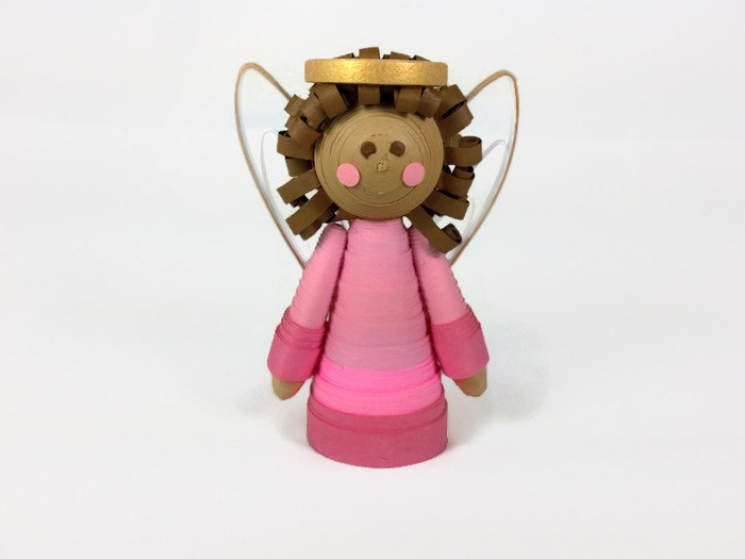 brown skin, paper quilling ornaments, mini tree topper, table top tree topper