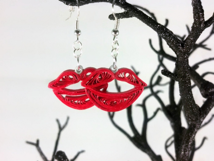 paper quilled jewelry, paper quilled kisses, earth friendly jewelry, eco chic