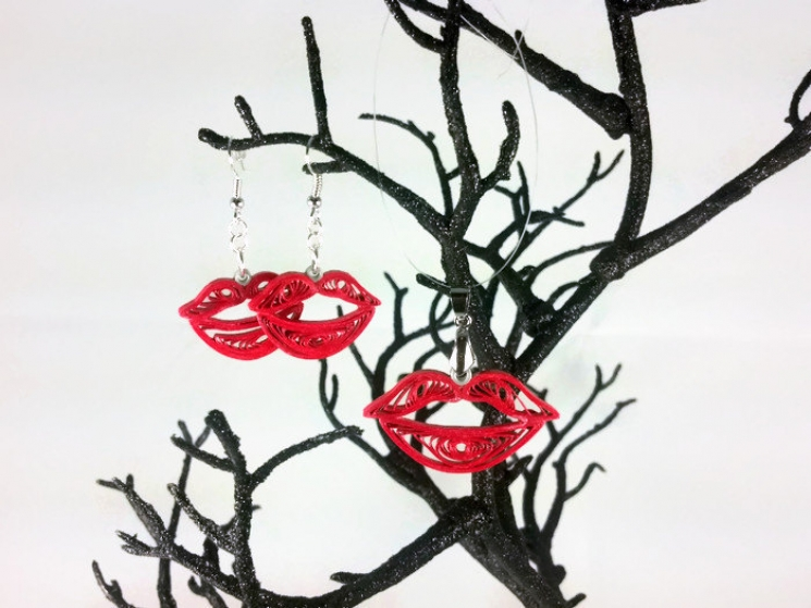 paper kiss, paper lips, sexy jewelry, valentines day gift, anniversary gift