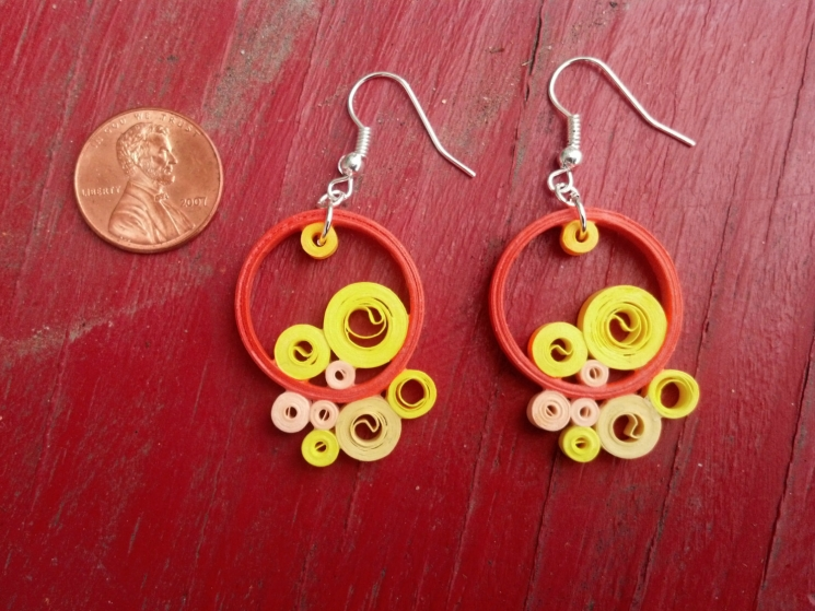 hippie earrings, hippy earrings, handmade earrings, handmade boho jewelry