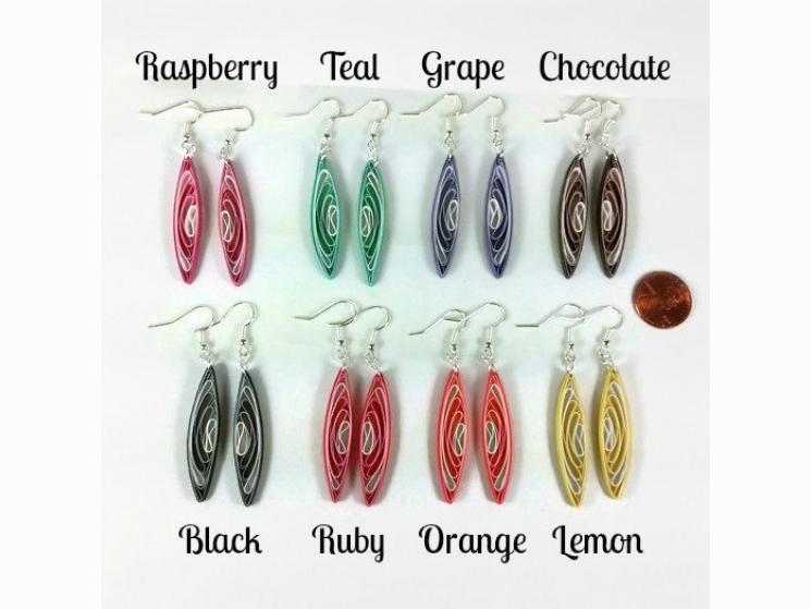 wedding earrings for wedding, bridesmaid earrings for bridesmaids, custom colors