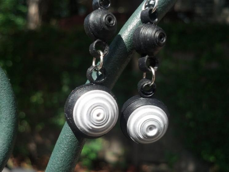 handmade earrings, handmade jewelry, paper anniversary gift, gift for her