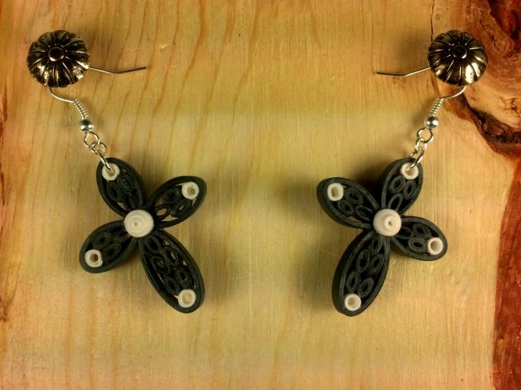 quilling earrings, religious gift for mom, religious jewelry, religious earrings
