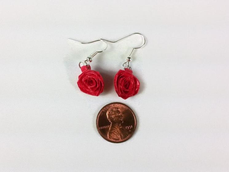 flower earrings, flower drop earrings, flower dangle earrings, paper jewelry