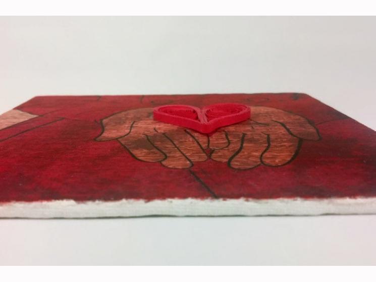 paper anniversary gift, gift for him, first anniversary gift, handmade art