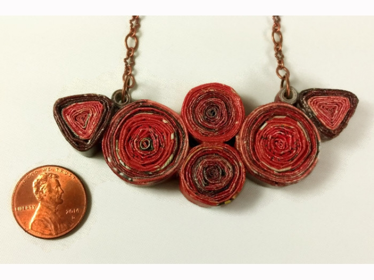 upcycled jewelry, recycled jewelry, alternative material, different jewelry