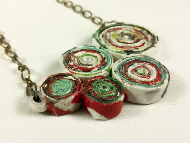 OOAK handmade, handmade necklace, handmade jewelry, artisan jewelry, upcycling