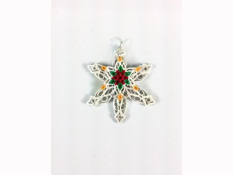paper anniversary, handmade snowflake, paper snowflake, handmade jewelry