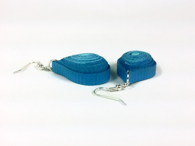1st anniversary gift, paper anniversary, first anniversary, blue tear earrings