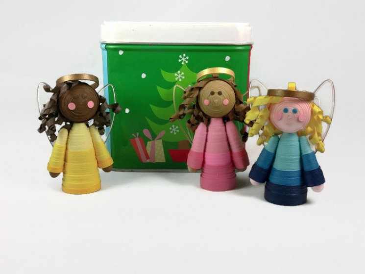 mini tree topper, small tree topper, childs Christmas tree, table top tree angel