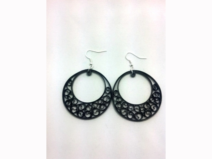 paper quilling earrings, big earrings, paper jewelry, paper quilling earrings