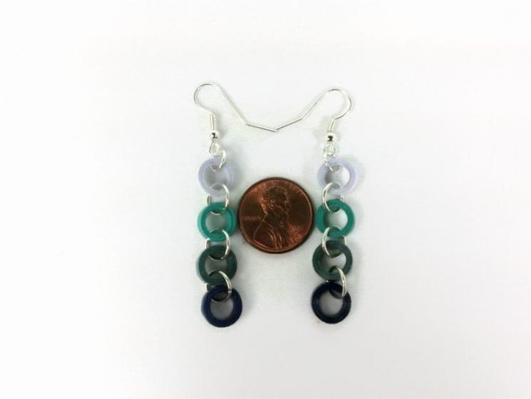 minimal earrings, handmade earrings, paper earrings, paper ring earrings