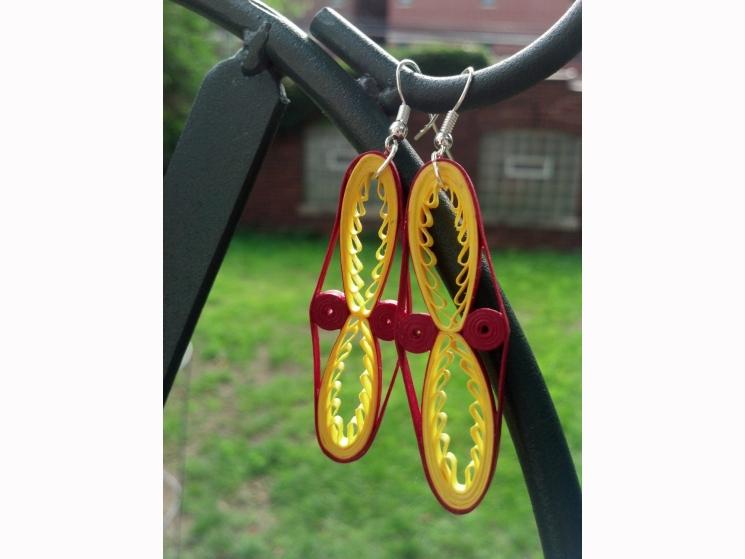 gypsy earrings, boho earrings, boho chic earrings, long dangle earrings