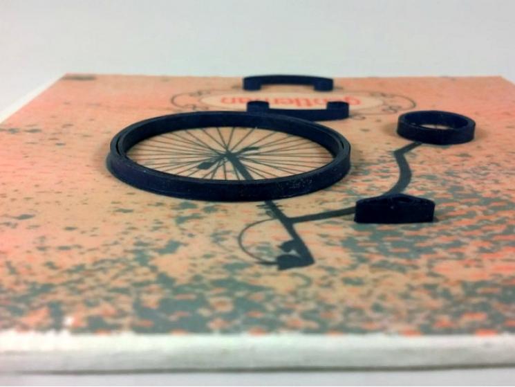 gentleman gift, hipster gift, rustic art, bike art, quilling bike, gift for man