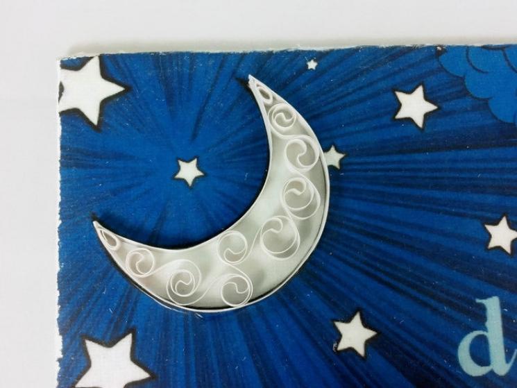 nursery decor, girls bedroom decor, girls bedroom art, filigree moon, goodnight