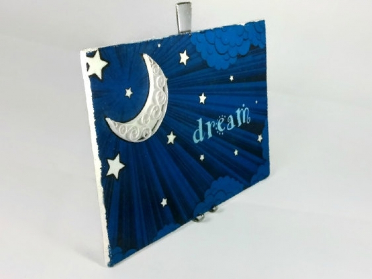 dream print, dream wall art, paper quilling art, moon art print, dream print