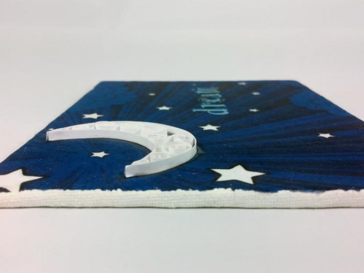 crescent moon art, crescent moon decor, moon and stars, blue moon, whimsical art