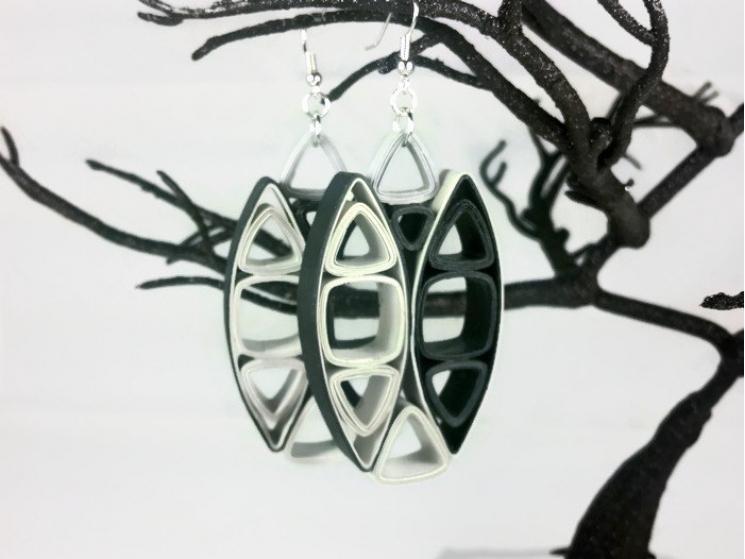 avant garde earrings, big earrings, large earrings, chunky statement