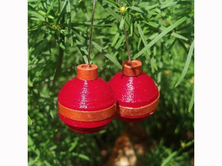 ball ornament earrings, Christmas outfit, Christmas fashion, green ball
