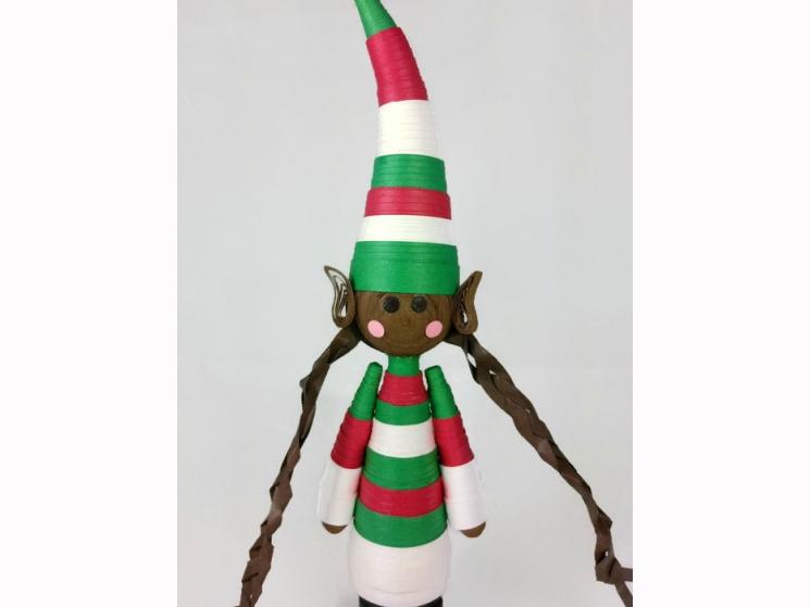 handmade Christmas ornament, handmade elf ornament, handmade ornament, xmas elf