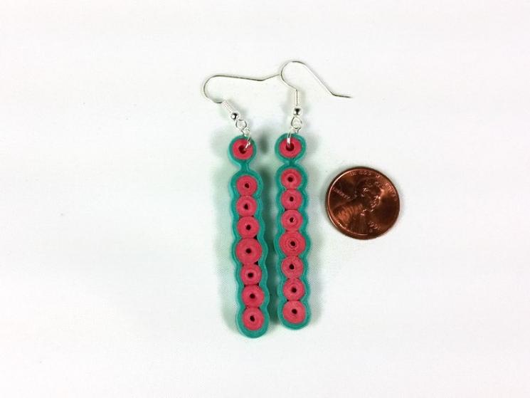 handmade earrings, paper anniversary, anniversary gift, 1st anniversary of paper