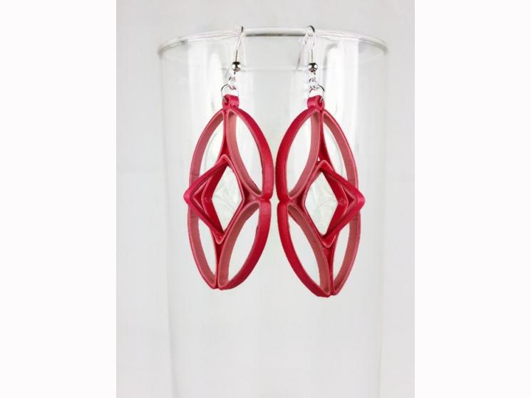 geometric cage earrings, geometric earrings, cage earrings, art deco earrings