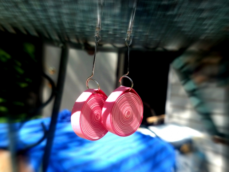 1st anniversary, handmade earrings, handmade jewelry, handmade paper earrings