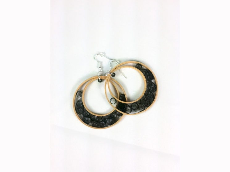 gold and black, fancy earrings, unique bridal earrings, jewelry sale