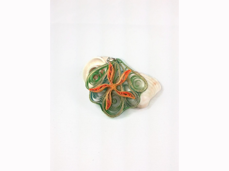 summer style, quilling shell, paper seashell, paper shell, shell necklace, shell