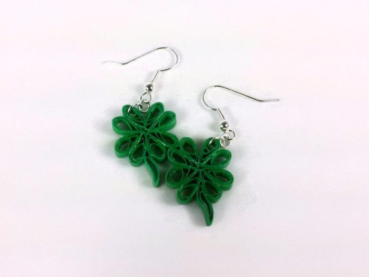 shamrock earrings, four leaf clover jewelry, St. Patricks Day earrings, cute