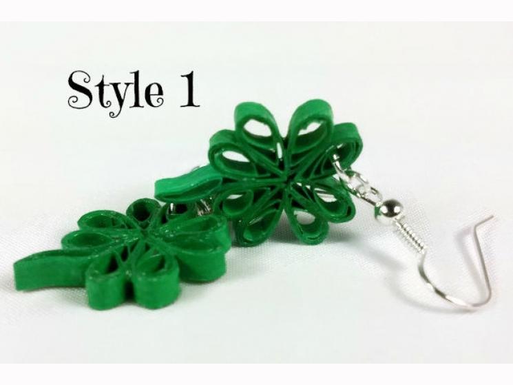 paddys jewelry, paper earrings, green earrings, shamrock jewelry, irish outfit