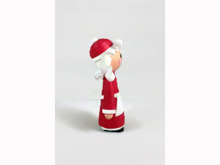 handmade ornament, handmade Mrs Claus, lightweight ornament, paper ornament