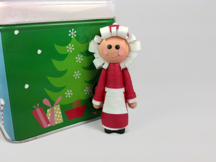 Mrs. Claus ornament, handmade Christmas decor, Mrs Claus Christmas ornament