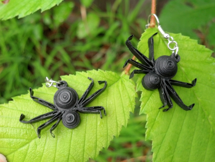 handmade spider earrings, Halloween costume, spider costume, Halloween party