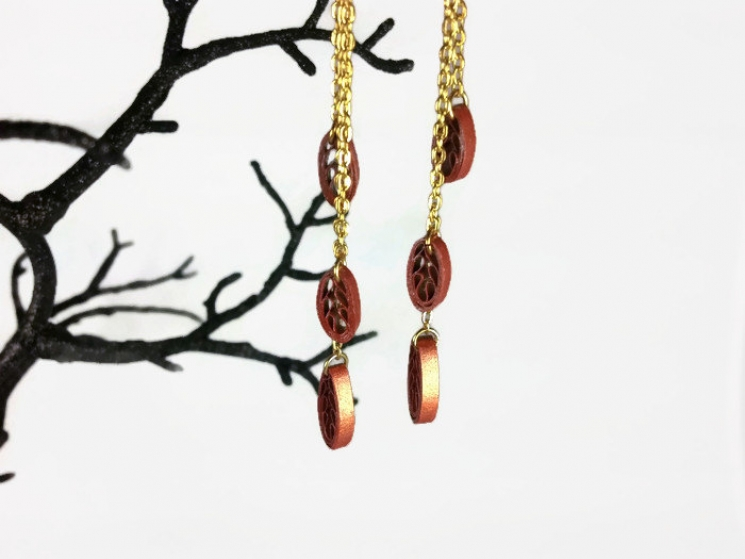 handmade dangle earrings, handmade earrings, hand crafted jewelry, long earrings