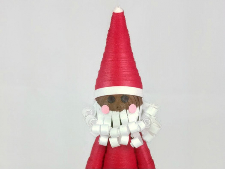 African American Santa, Christmas ornament, handmade Christmas decorations