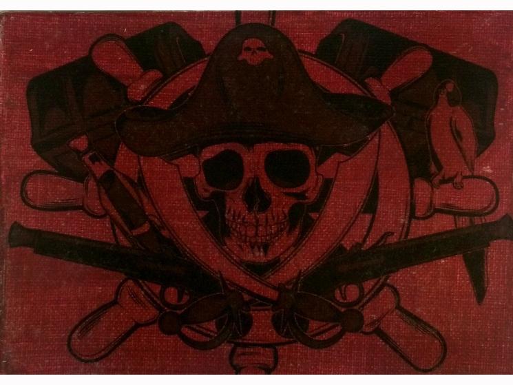 pirate party, skull decor, pirate skull, Halloween decor, skull decoration