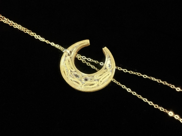 Stevie Nicks moon, Stevie Nicks necklace, paper quilled jewelry, quill necklace