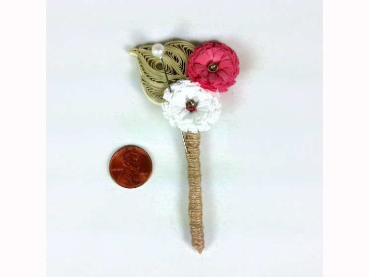 groom boutonniere, quilling boutonniere, paper quilling wedding, paper wedding