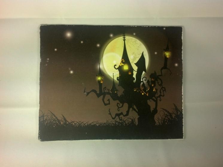cotton gift, handmade Halloween, handmade art, spooky sign, spooky decor