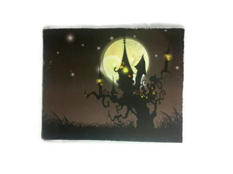 canvas print, Halloween print, canvas wall art, print on canvas, cotton canvas
