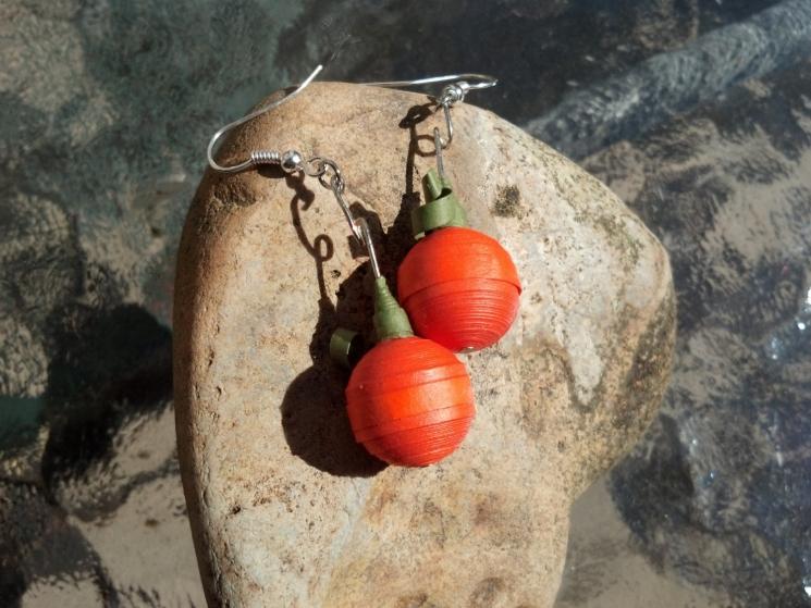 quilling jewelry,  paper earrings, earrings for girls, Halloween jewelry