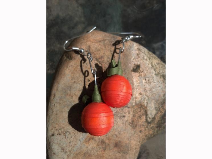 handmade Halloween, Halloween handmade, fall earrings, autumn earrings, pumpkins
