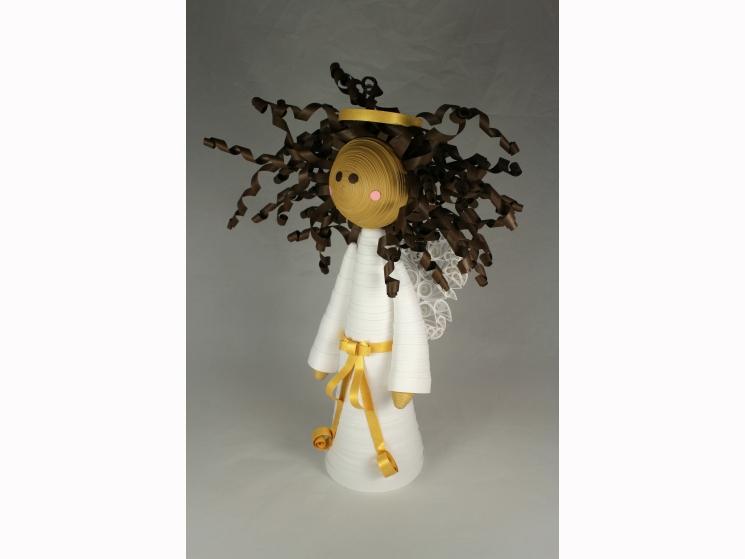 brown angel, black angel, african american angel, brown angel tree topper
