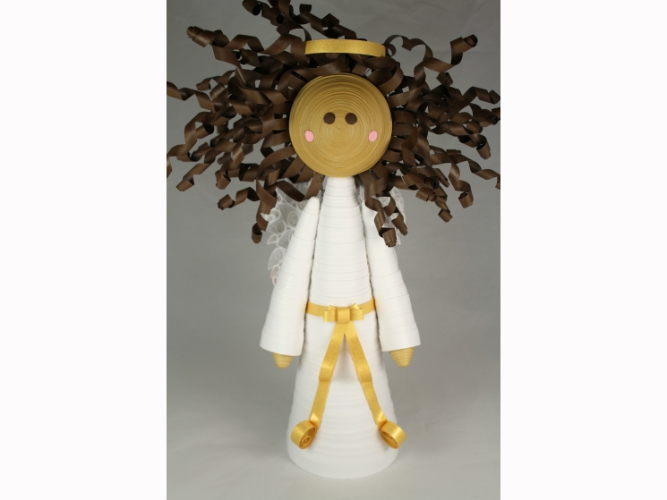 black angel tree topper, multicultural christmas, multicultural angel