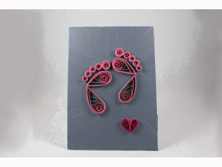 gender reveal gift, gender reveal idea, unique gender reveal, pink baby feet