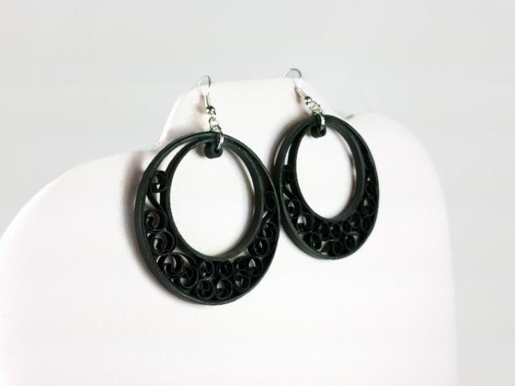 crescent moon earrings, handmade hoop earrings, handmade earrings, boho earrings