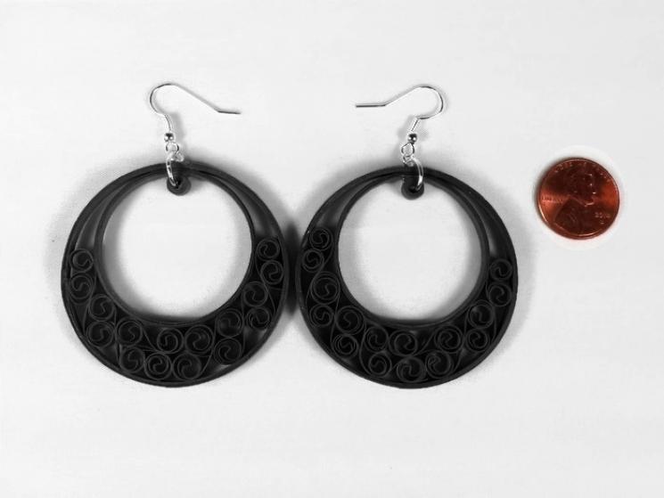 boho chic earrings, boho jewelry, custom colors, paper anniversary gift for her